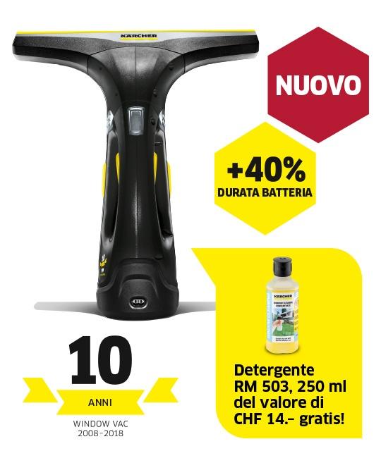 Aspiragocce per vetri WV 2 Premium 10 Years Edition incl. detergente RM 503
