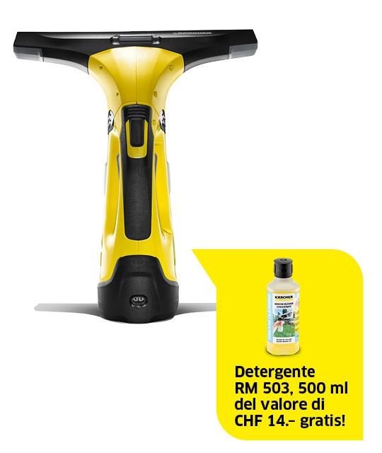 Aspiragocce per vetri a batteria WV 5 Premium incl. detergente RM 503